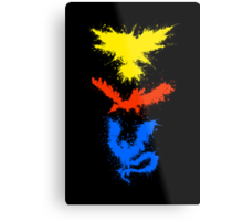 Legendary Bird Splatter Metal Print