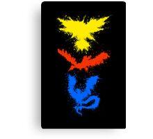 Legendary Bird Splatter Canvas Print