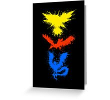 Legendary Bird Splatter Greeting Card
