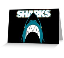 In the Jaws of the Sharks Greeting Card