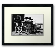 Old Carriage - Black and White Framed Print