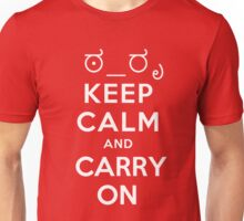 Keep calm and carry on tophat and monocle Unisex T-Shirt