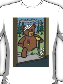Teddy Bear And Bunny - Home From The War T-Shirt