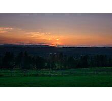 Vermont Sunset Photographic Print