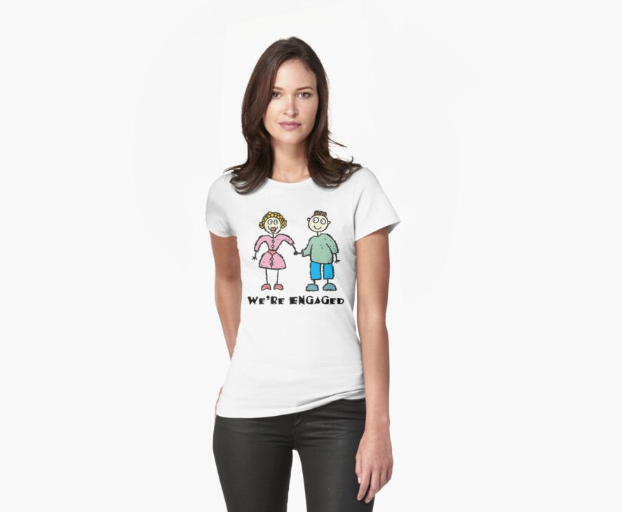 "Cute Engaged Engagement ""We""re Engaged"" by FamilyT-Shirts"