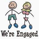 "Engagement Engaged ""We're Engaged"" by FamilyT-Shirts"