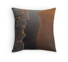 Wave and Sand Pattern at Sunset Throw Pillow
