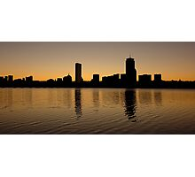 Boston Skyline Sunrise Photographic Print