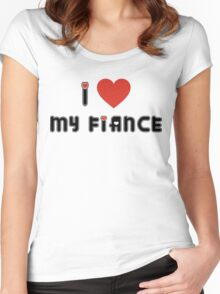 Engaged I Love My Fiance Women's Fitted Scoop T-Shirt