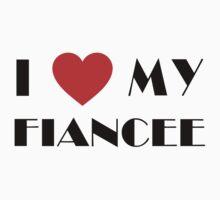 Engaged I Love My Fiancee T-Shirt