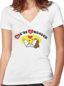 Engaged Women's Fitted V-Neck T-Shirt