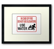 Funny Fire Warning Framed Print