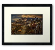 Mt St Helens from Windy Ridge Framed Print