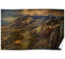 Mt St Helens from Windy Ridge Poster