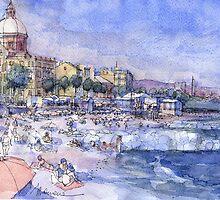 Spiagge a Pegli by Luca Massone  disegni