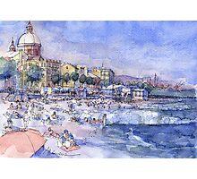 Spiagge a Pegli Photographic Print
