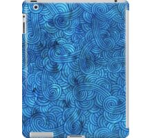 Turquoise blue swirls doodles iPad Case/Skin