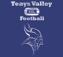 Teays Valley Football Distressed  by JamesChaffin