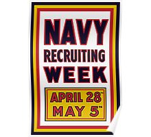 Navy Recruiting Week -- WW1 Era Poster
