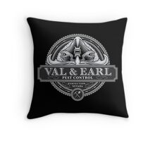 Val & Earl, Pest Control Throw Pillow