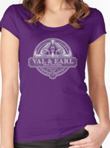Val & Earl, Pest Control Women's Fitted Scoop T-Shirt