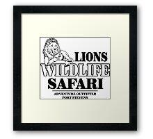 Lion Wildlife Safari Framed Print
