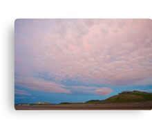 Pink sky at Beachside  Canvas Print