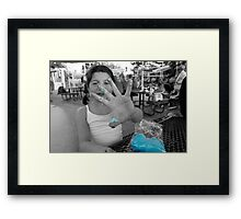 Blue Meanie Framed Print