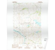 USGS Topo Map Washington State WA Belvedere 240011 1989 24000 Poster