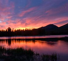 Sunrise over Sprague Lake, Colorado by Jodie Kelley