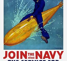 Join The Navy -- The Service For Fighting Men by warishellstore