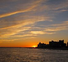 Sunstar Sunset over Coney Island by Randy Mendelsohn