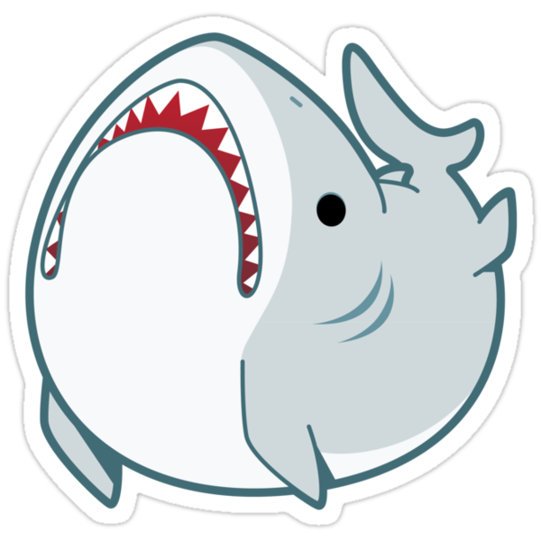 Derpy Great White Shark by neekko