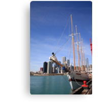 Chicago Skyline and Tall Ship Canvas Print