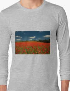 Summer Poppy Field 1 Long Sleeve T-Shirt