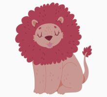 Pink Lion One Piece - Long Sleeve