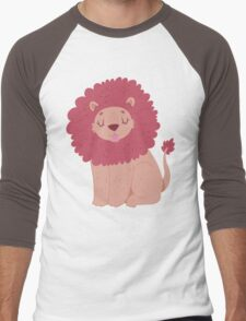 Pink Lion Men's Baseball ¾ T-Shirt