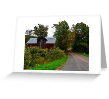 Red Barn on Fitch Road Greeting Card