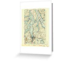 USGS Topo Map Washington State WA Olympia 242941 1937 62500 Greeting Card