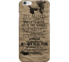 My Mind Rebels iPhone Case/Skin