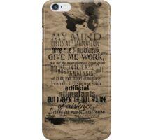 My Mind Rebels iPhone Case/Skin