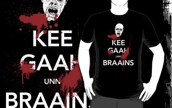 KEE GAAH unn BRAAINS! by M Dean Jones