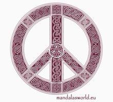 Celtic Peace Symbol Garnet by Mandala's World
