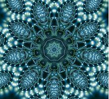 Kaleidoscopic blue fractal formula pattern by matteogamba