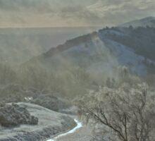 Winter on the Hills Sticker