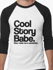 Cool Story Babe Men's Baseball ¾ T-Shirt