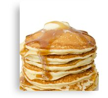 Pancakes for the win, yummy! Canvas Print
