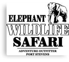 Elephant Wildlife Safari Canvas Print