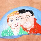 Rock Painting, I Love Lucy, Lucy And Desi by pinkyjainpan