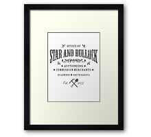Office of Star and Bullock, Deadwood Framed Print